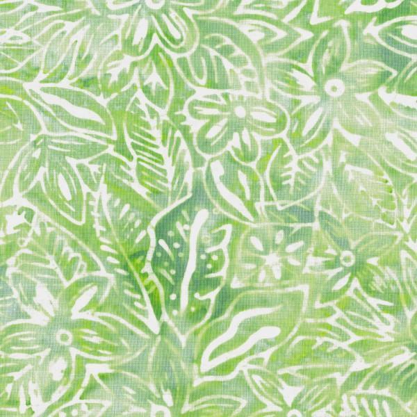 Mint Packed Flower Batik Green