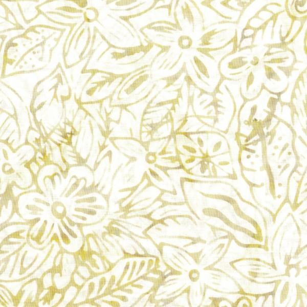 Cream Packed Flower Batik