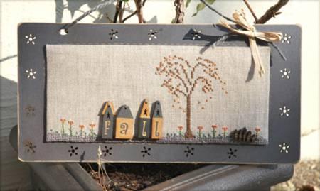 Cross Stitch Chart - Fall Grey Panel