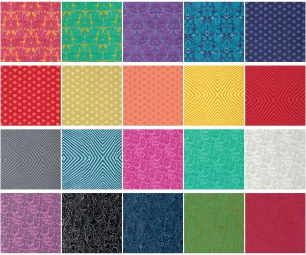 5in Squares True Colors Tula Pink 20pcs