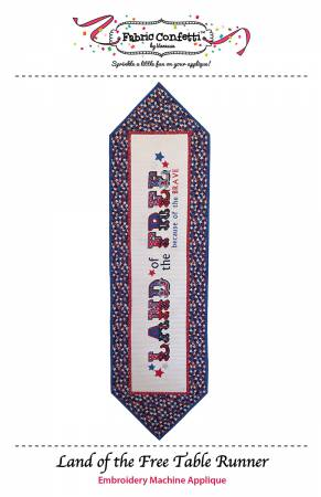CD Land Of The Free Table Runner