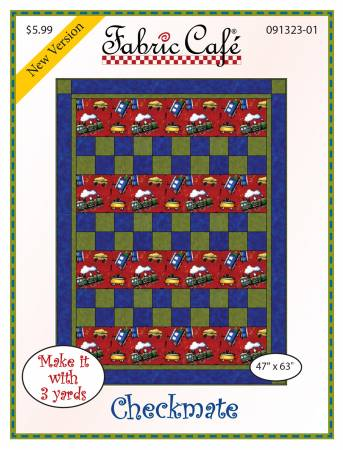 Fabric Cafe Checkmate Pattern 47 x 63 091323-01