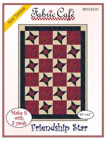 Fabric Cafe Friendship Star 44 x 62 091533-01