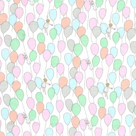 Balloons on Flannel Fabric by Sarah Jane Flannel for Michael Miller