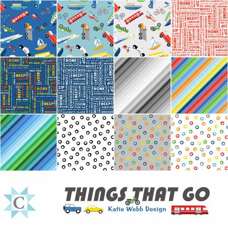 THINGS THAT GO    FAT 1/8TH BUNDLE