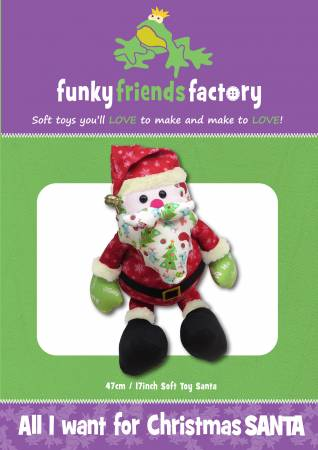 All I Want for Christmas Santa Pattern