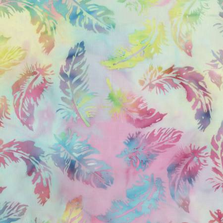 Blossom Batiks Cascade Feathers in Unicorn