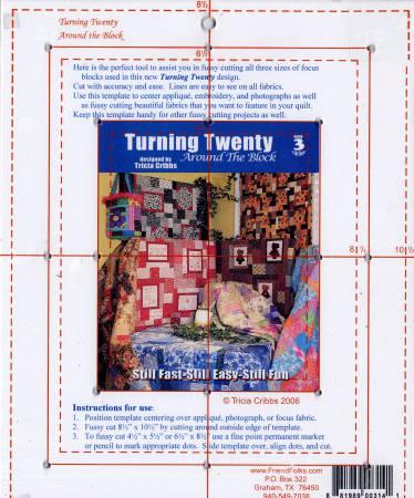 Turning Twenty Around the Block Acrylic Template