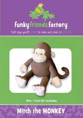 Mitch The Monkey Stuffed Toy Pattern