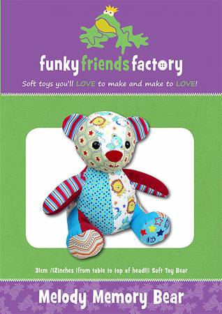 Melody Memory Bear Stuffed Toy Pattern