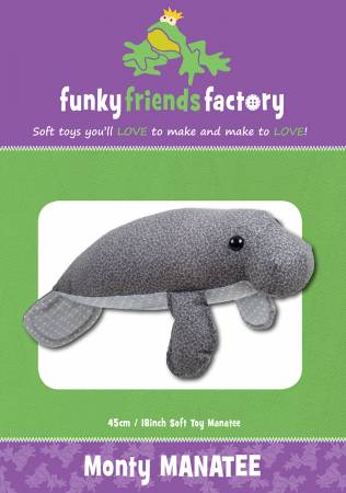 Monty The Manatee Stuffed Toy Pattern