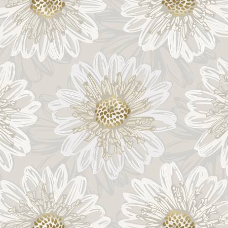 Pearl Embossed Blooms w/Metallic FF500-PE6M