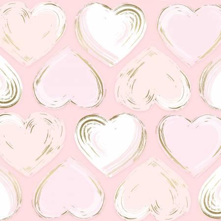 Blush Heart Locket w/Metallic