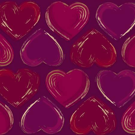 Wine Heart Locket w/Metallic