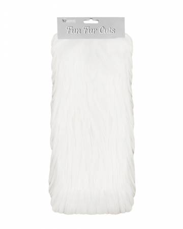 Fun Fur Cut 9x12 Extra Long Pile Gorilla White