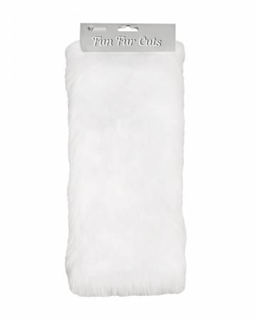 Fun Fur Cut 9 x12  Short Pile Grizzly White