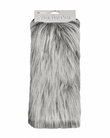Fun Fur Cut 9x6 Long Pile Monkey Grey/Frost
