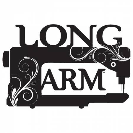 Vinyl Window Decal - Long Arm Sewing Machine