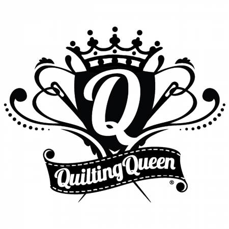 Vinyl Window Decal - Quilting Queen Crest