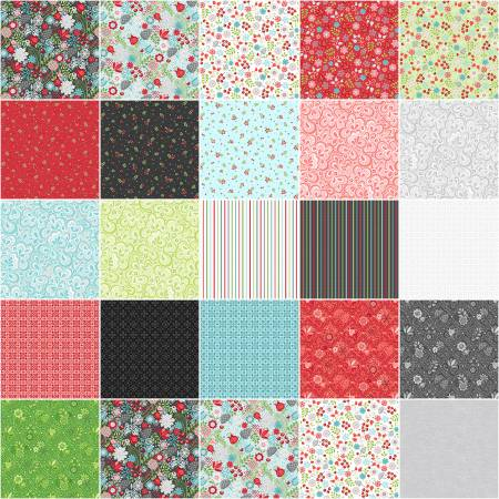 10in Squares First Frost, 42pcs/bundle
