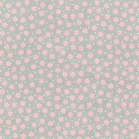 Grey Flower Flannel