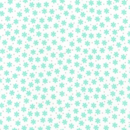 Kaufman Cozy Cotton Flannel Mint Daisy