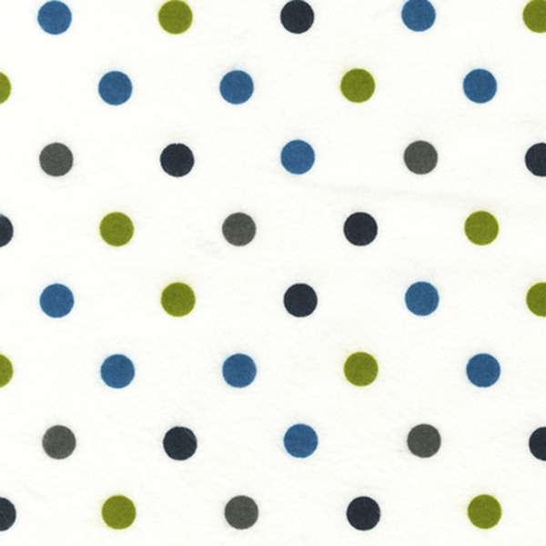 Marine Medium Dot Flannel