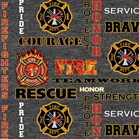Heather Grey Fire Fighter Seal Cotton