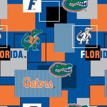 University of Florida Block Print Cotton