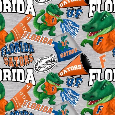 Licensed:  University of Florida Gators Cheering Gators on Gray by Sykel Enterprises