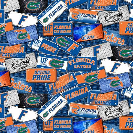 Florida Gators License Plate Cotton