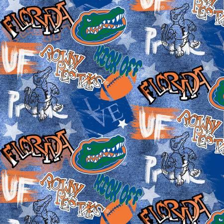 Licensed:  University of Florida Gators Graffiti on Blue by Sykel Enterprises