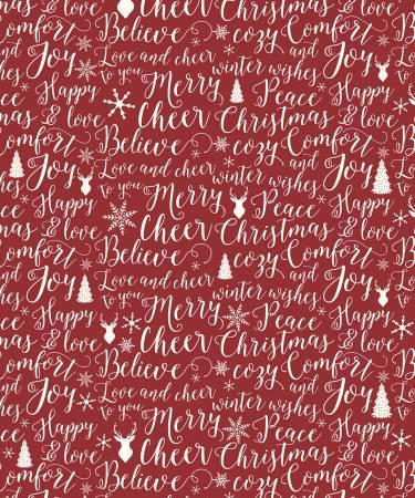 RB Christmas Words 48 X 60 Super Soft Coral Fleece Designer Blanket