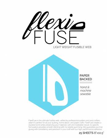 FlexiFuse Lightweight Fusible Web - 25 Sheets 8in x 10-1/2in!