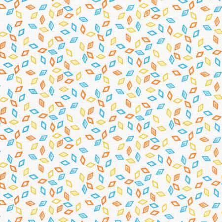 KAUF- Wildflowers Geometric Diamonds White/Orange