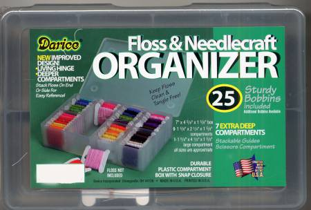 Case Mini Floss Organizer with 25 Bobbins