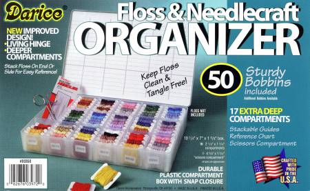 Floss Organizer Case with 50 Bobbins
