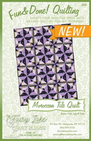 Moroccan Tile Fun & Done! Quilting KIT - LAP SIZE