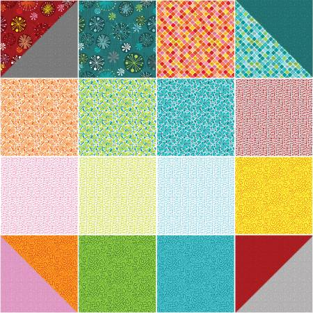 10in Squares Fandangle 42pcs/bundle