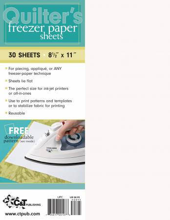 Quilters Freezer Paper 8 1/2 x 11 30 per pack