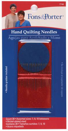 Fons & Porter Between / Quilting Needles Assorted Sizes 7/10 20ct