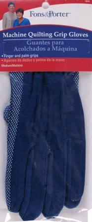 Glove Machine Quilting Grip Medium Blue 1 pair