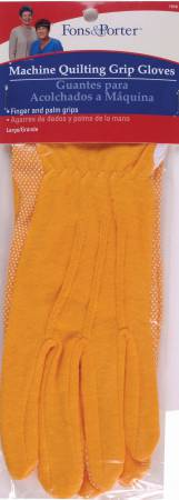 Glove Machine Quilting Grip Large Yellow