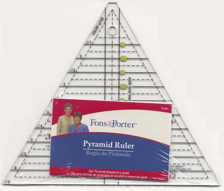Fons & Porter Pyramid Ruler 60 Degree Sizes 1in to 6in