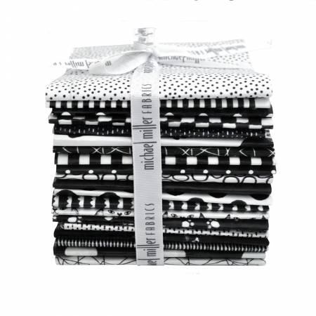 Fat Quarter Black & White, 20pcs/bundle