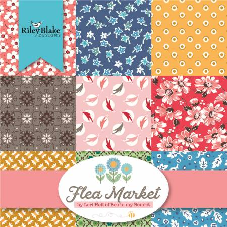 Flea Market - Fat Quarter Bundle 42pc/bundle - By Lori Holt For Riley Blake Designs
