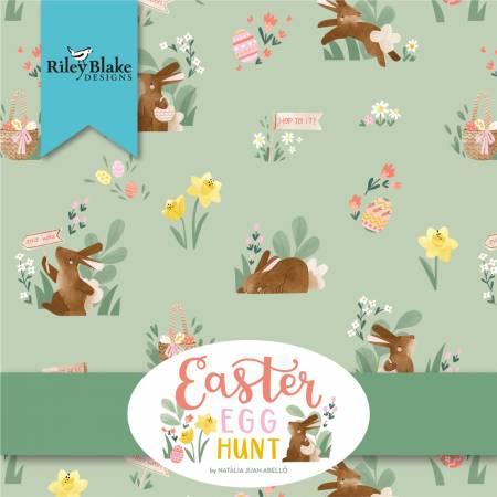 Easter Egg Hunt Fat Quarter Bundle, 18pcs