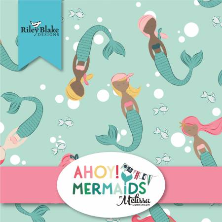 Ahoy! Mermaids Fat Quarter Bundle by Melissa Mortenson
