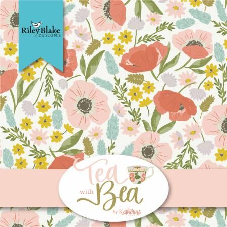 Tea With Bea Fat Quarter, 24pcs