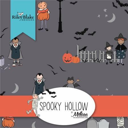 Spooky Hollow Fat Quarter, 24pcs, 3 bundles/pack